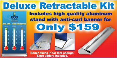 retractable banner stands wholesale