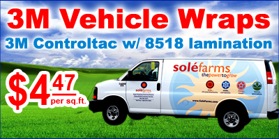 3M controltac wholesale vehicle wraps